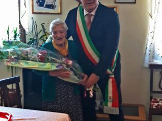 Flora Anastasi con il sindaco Bontempi