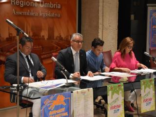 Il sindaco Alemanno durante la presentazione