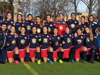 Le ragazze del calcio a 11 a Gubbio