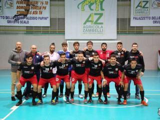 La squadra di calcio a 5 dell'Orvieto Fc