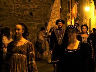 Corteo storico in notturna