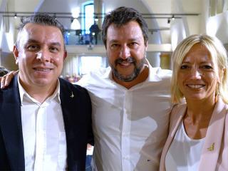 Pastorelli e Fioroni con Matteo Salvini