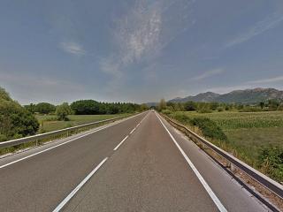 Un tratto della strada Pian d'Assino