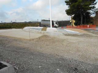 Fasi di costruzione della parabolica per l'ingresso in superstrada da via Adriatica