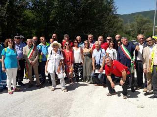 Preci è stata consegnata la casetta donata dalle associazioni di Castiglione del Lago