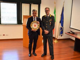 Il Prefetto di Perugia Claudio Sgaraglia con il Comandante Provinciale, Col. t.ST Danilo Massimo Cardone
