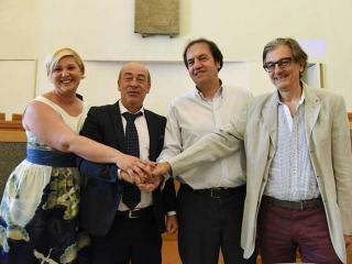 Svetlana Mercuriali, Carmine Camicia, Claudio Moretti e Fabrizio Bruno