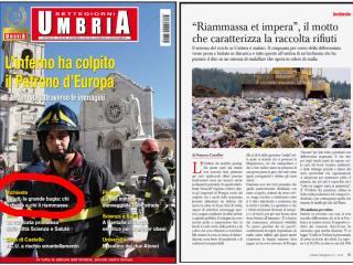 Pagine di Umbria Settegiorni sull'inchiesta rifiuti