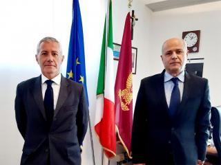 Il dr Gianfranco Leva con il Questore Antonio Sbordone