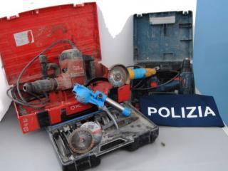 La refurtiva recuperata dalla Polizia
