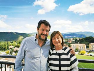 Salvini con Donatella Tesei