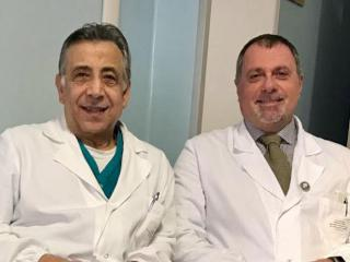 Il dr Santino Rizzo e il dr Fabrizio Spallaccia