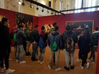 Studenti in visita alla mostra