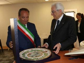 Nando Mismetti con il Presidente Mattarella