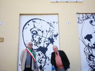 Il sindaco De Augustinis e Gian Paolo Loreti