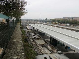 Stazione di Ponte San Giovanni, 5° binario e tratto morto