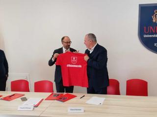 Il Rettore Claudio Pettinari con Gianni Barbetti