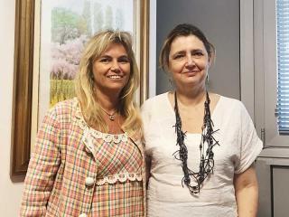 La prof.ssa Susanna Esposito e la prof.ssa Ursula Grohmann