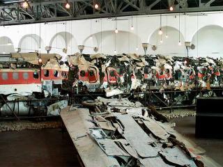 I resti del DC9 al Museo per la memoria di Ustica (Bologna)