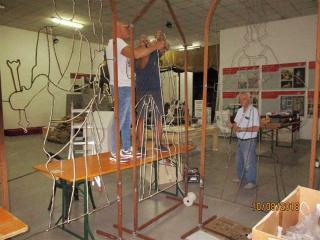 Il laboratorio artistico nella sede sociale