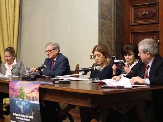 Vittoria Garibaldi, Maurizio Renzini, Catiuscia Marini, Rita Barbetti e Pierluigi Mingarelli