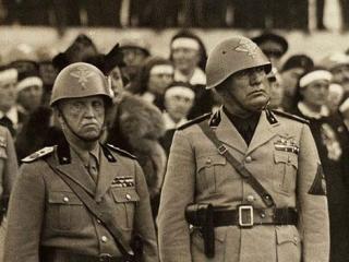 Re Vittorio Emanuele III con Benito Mussolini